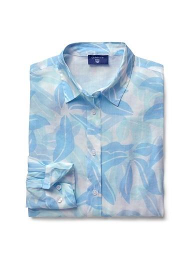 Gant Desenli Gömlek Mavi